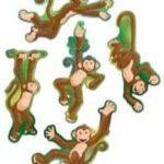Monkey Cutouts 10 per pack
