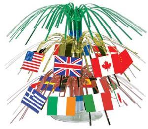 A International Mini Flags Centerpiece