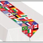 A International Flags table Runner