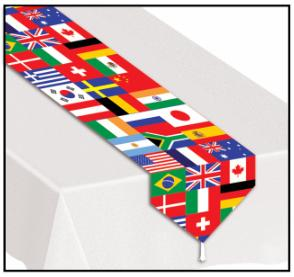 A International Flags table Runner