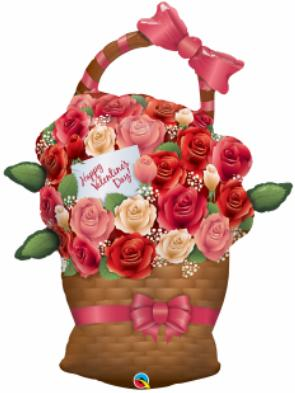 Balloon Valentine Basket