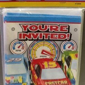 Invitations Race car 8ct
