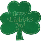 St Patrick Cutout Sign 16in
