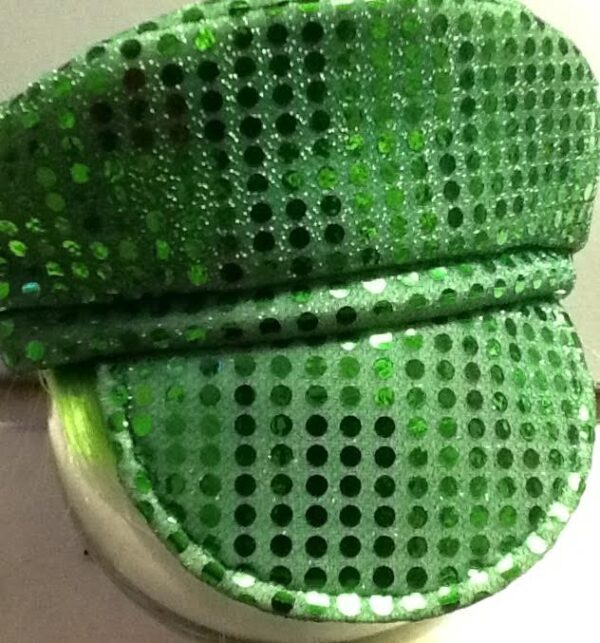 70's Disco Cap Green with Strands