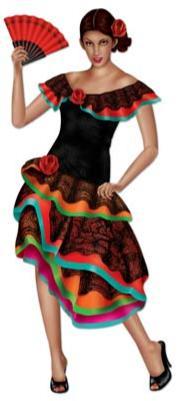 A Mexican Senorita Cutout