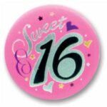 16 A Birthday Button Satin