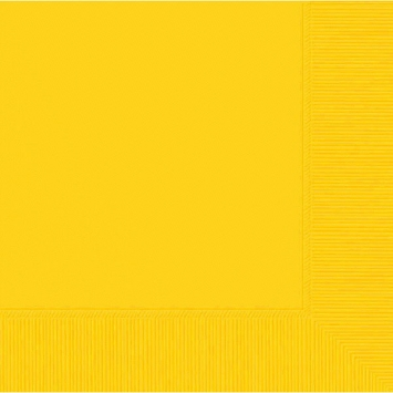 Tableware Yellow Lunch Napkins 50ct