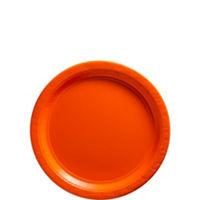 Tableware Orange Paper Plates 7in 24ct