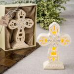 A Cross centerpiece Statue LED Light up
