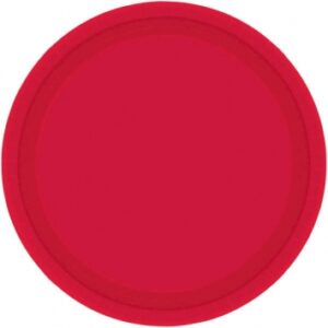 Tableware Red Paper Plates 9in