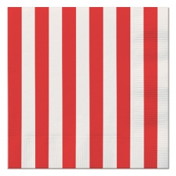 Red White Stripes Napkins