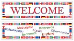 2 International Welcome Banners