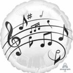 Musical Notes Balloon  18in