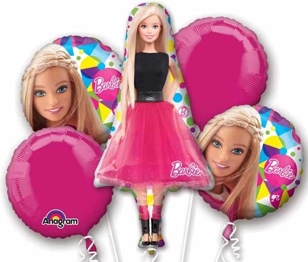 Barbie  Balloon Bouquet