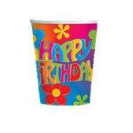 Flower Power HBD Cups