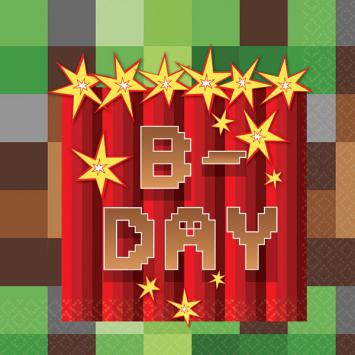 Minecraft Birthday Napkins