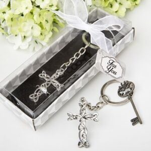 A Cross Keychain Favor
