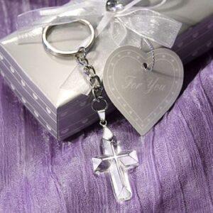 A Cross Crystal Keychain