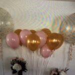 decor bal 2 clear and umbrella bridal shwr