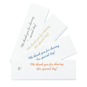 Favor Tags 25 ct Gold Writing
