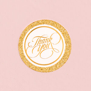 Favor Tags Gold Shimmer Thank you 20ct