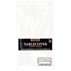Tableware White Table Cover Plastic