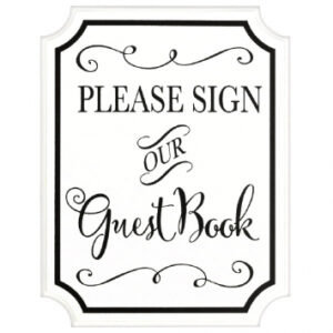 Guest book Signing Sign