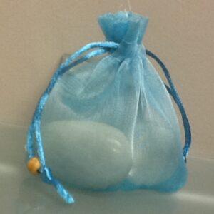 Favor Bags Blue Organza