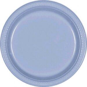Tableware Blue Plastic Plates 7in