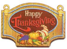A Happy Thanksgiving sign