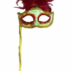 A Masquerade Mask Red on dowel