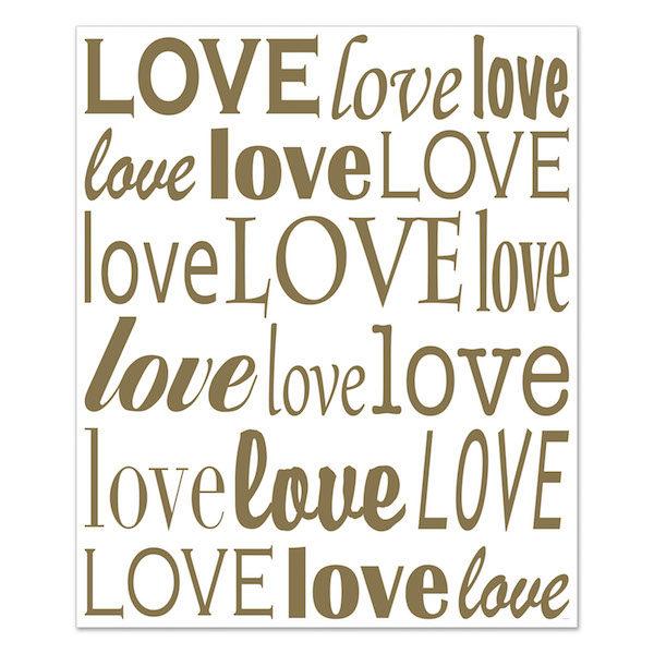 Back drop mural Love Love