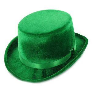 Top Hat  Green Velvet