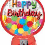 Balloon Birthday Gumball Machine
