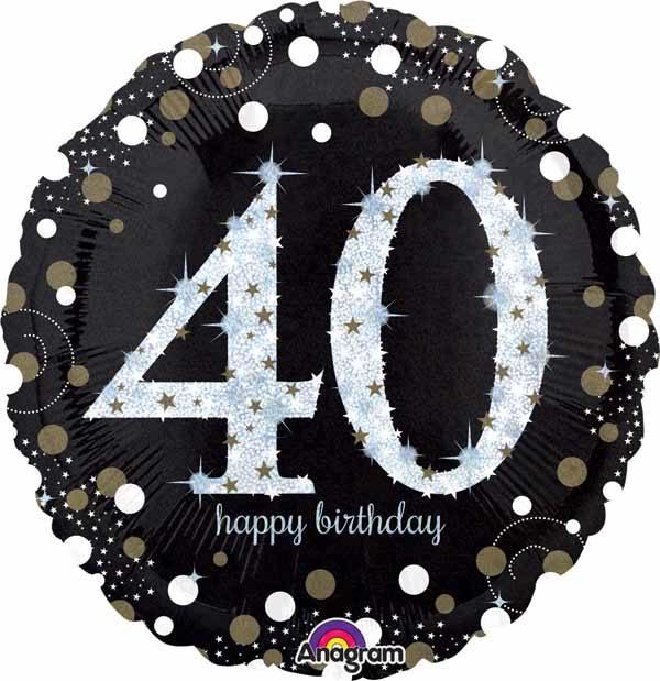 A Sparkling 40 Birthday Balloon