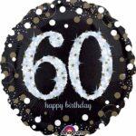 A Sparkling 60 Birthday Balloon