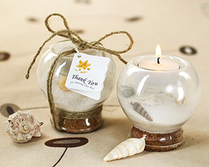 Candle votive with sand Nautical
