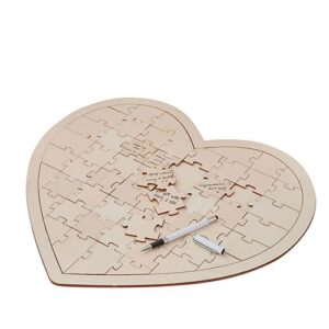 A Heart Puzzle Guest Book