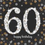 A Sparkling 60 Birthday Napkins
