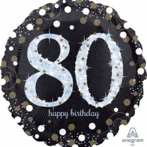 A Sparkling 80 Birthday Balloon