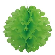 Decor Puff Ball Lime Green Large