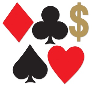 Card Suits Casino Mini cutouts 10ct