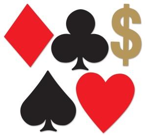 Card Suits Casino Mini cutouts 10ct