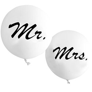Balloon Mr  Mrs White 36in