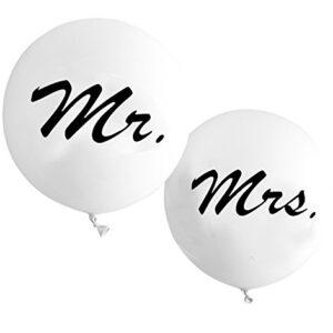 Balloon Mr  Mrs White 36in