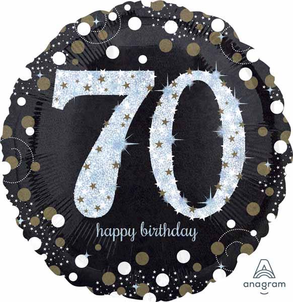 Balloon Birthday 70 HBD Sparkling