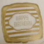 Balloon Birthday  Gold stripes