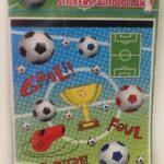 Soccer Lootbag Sticker sheets 4ct