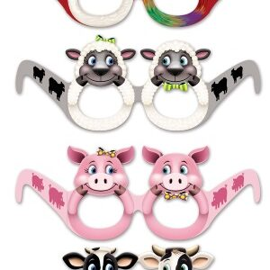 Animal paper Glasses 12ct
