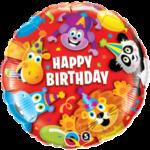 Jungle Animals Balloon Happy Birthday